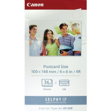 "Canon KP-36IP Ink/Paper for Selphy CP Printers - 36x 4"" x 6"" Postcard Size"